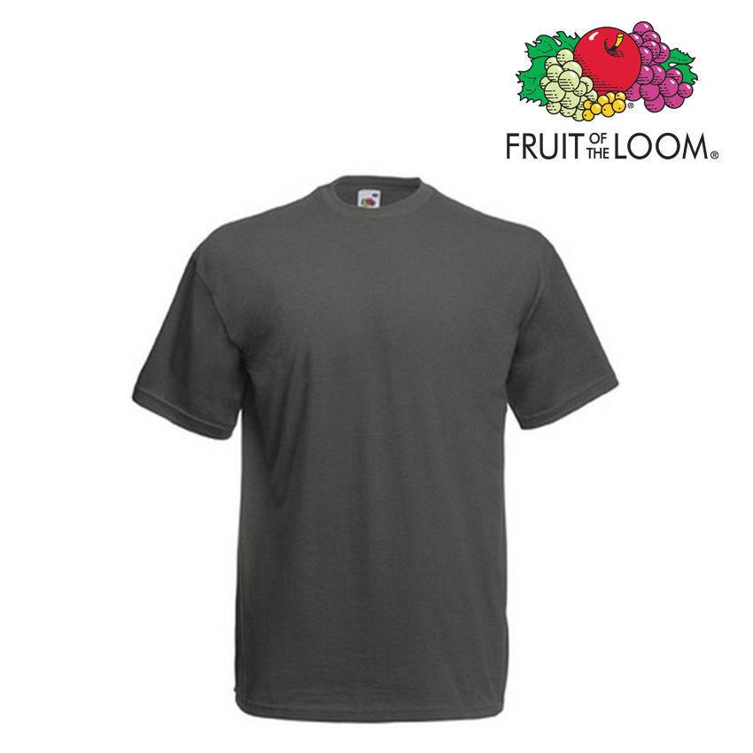 Lot de 100 T-shirts homme manches courtes FRUIT OF THE LOOM colore grigio ZINC