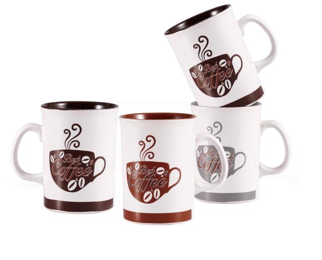 Wellberg 5 Piece Tea Coffee Mug Set With Trendy Design Chrome Stand 280ml