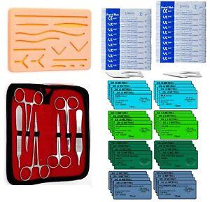 59-Stueck-ueben-Nahtmaterial-Kit-fuer-medizinische-und-veterinaermedizinische-Student-Ausbildung