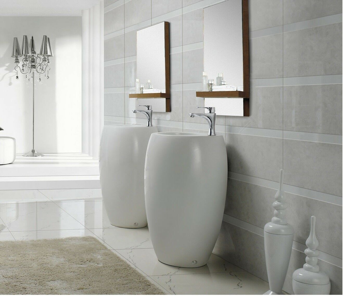 Modern Bathroom Pedestal Sink