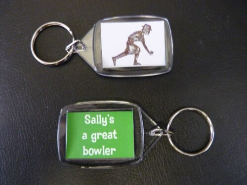 Bowling Personalised Keyring