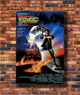 W446 Art Nice Silk Fabric Cloth Wall Print Movie Back To The Future Poster