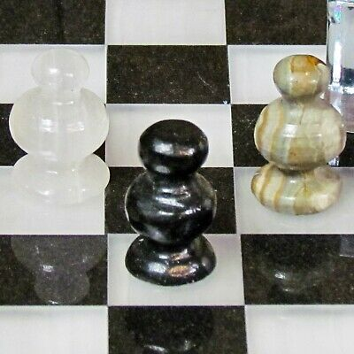 Replacement Stone Chess Pieces Pawns 11 Variations Choose Match Carved Mexico