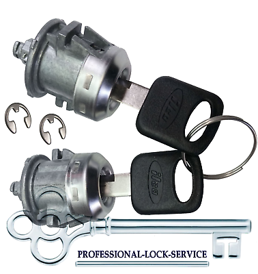 Ford Excursion 2000-2005 Door Lock Key Cylinder Pair Tumbler Barrel 2 Keys