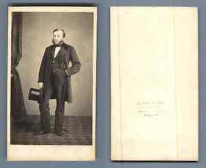 Eugene De Paris Toulon Un Homme CDV Vintage