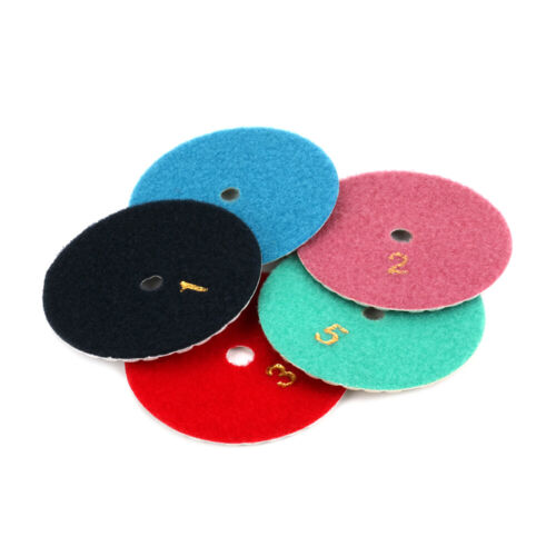 4 Inch Diamond Polishing Pads Buffing Disc Set for Granite Stone Concrete 6Pcs