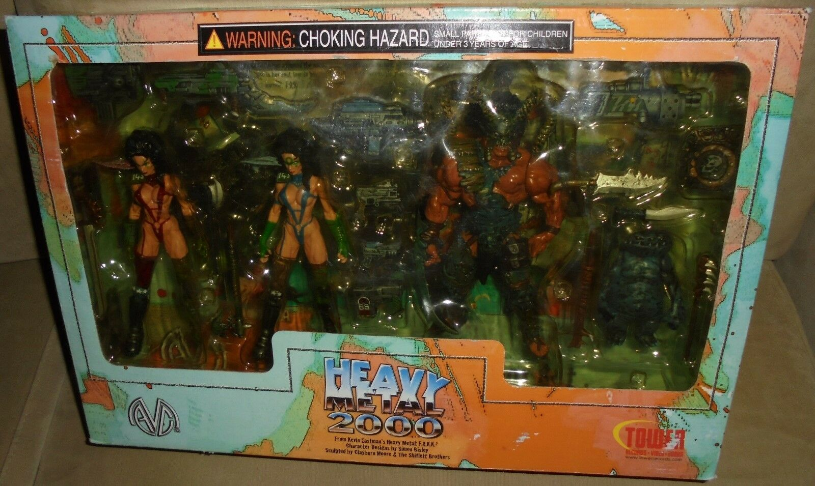Heavy metal 2000 exklusive 4 posable actionfigur box - moore aktion 2000