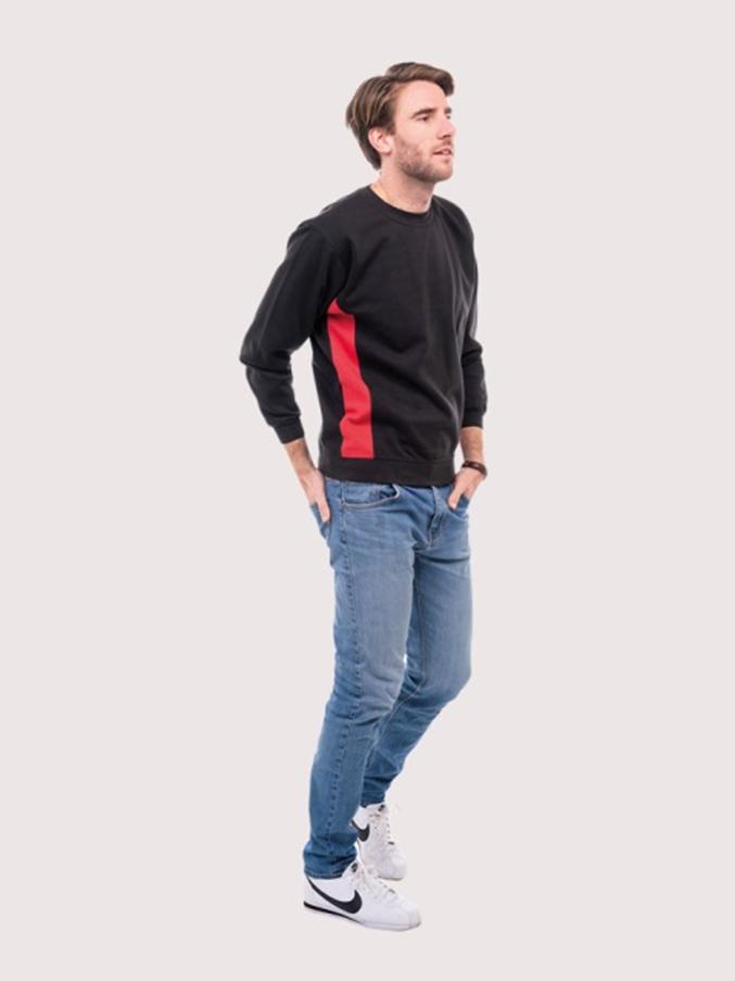 UNEEK Two Tone Sweatshirt Jumper Contrast Uniform Casual Contemporary Fit UC217