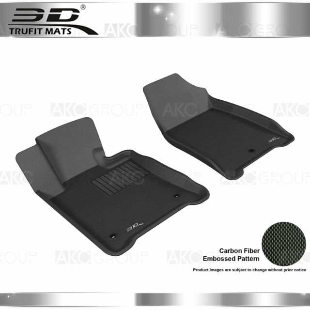 Fit 2009-2014 Acura TL All Weather Floor Mat Front Set