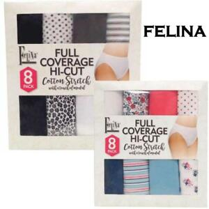 2e005ce2e960 NEW OPEN WOMENS FELINA COTTON STRETCH FULL COVERAGE HI-CUT PANTY 8 ...