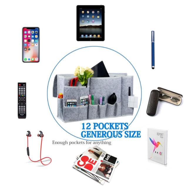 AU Hanging Bag Bedside Storage Caddy Felt Sofa Organizer Pocket Remote Book Home