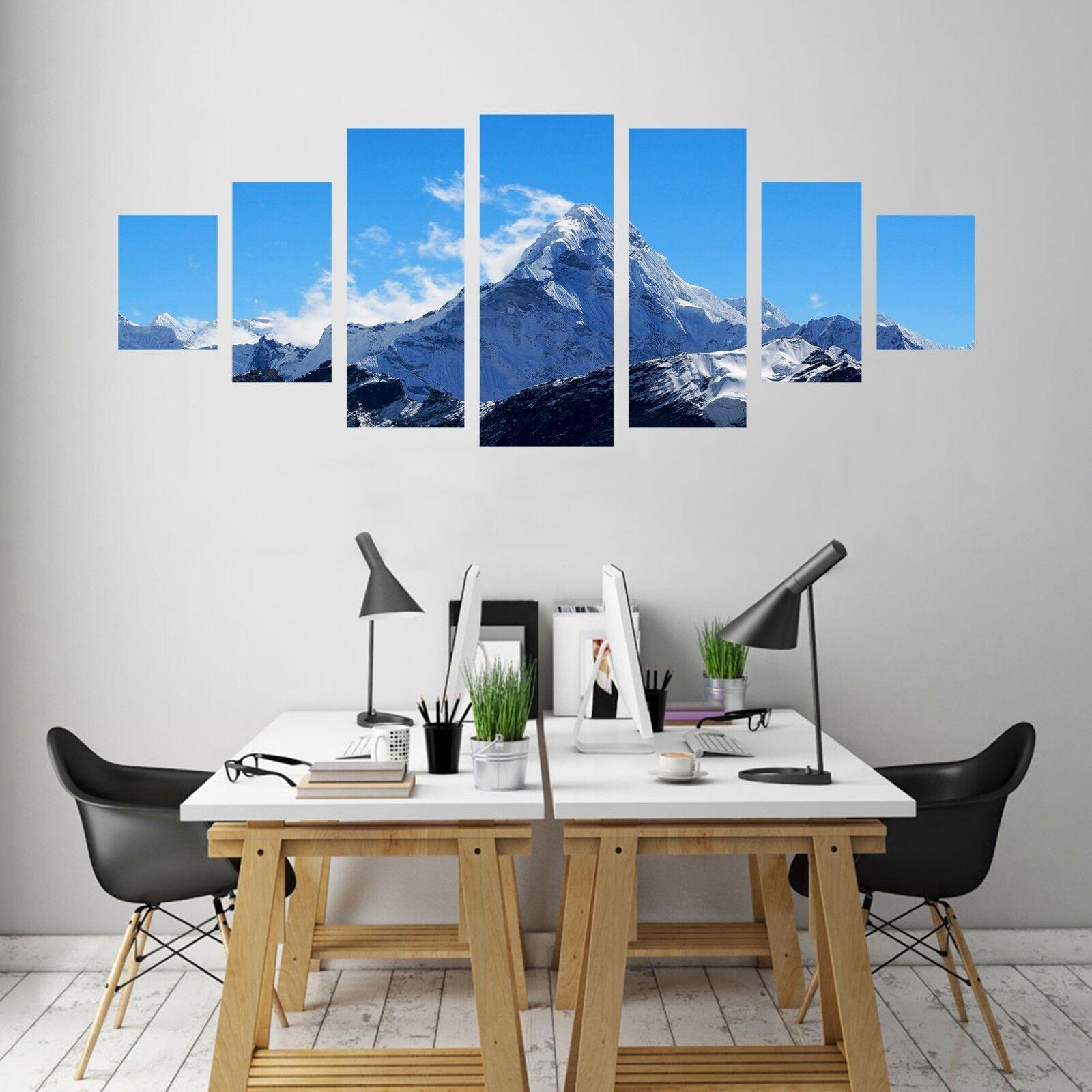 3D Mountain Peak bleu Sky 123 Unframed Print Wall Paper Deco Indoor AJ Summer