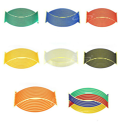 Strips Wheel Stickers Decals Reflective Rim Tape Creative Motorcycle Car Tape