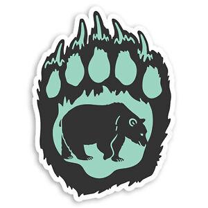 2-x-10cm-Awesome-Bear-Paw-Vinyl-Stickers-Wild-Animal-Laptop-Sticker-30087