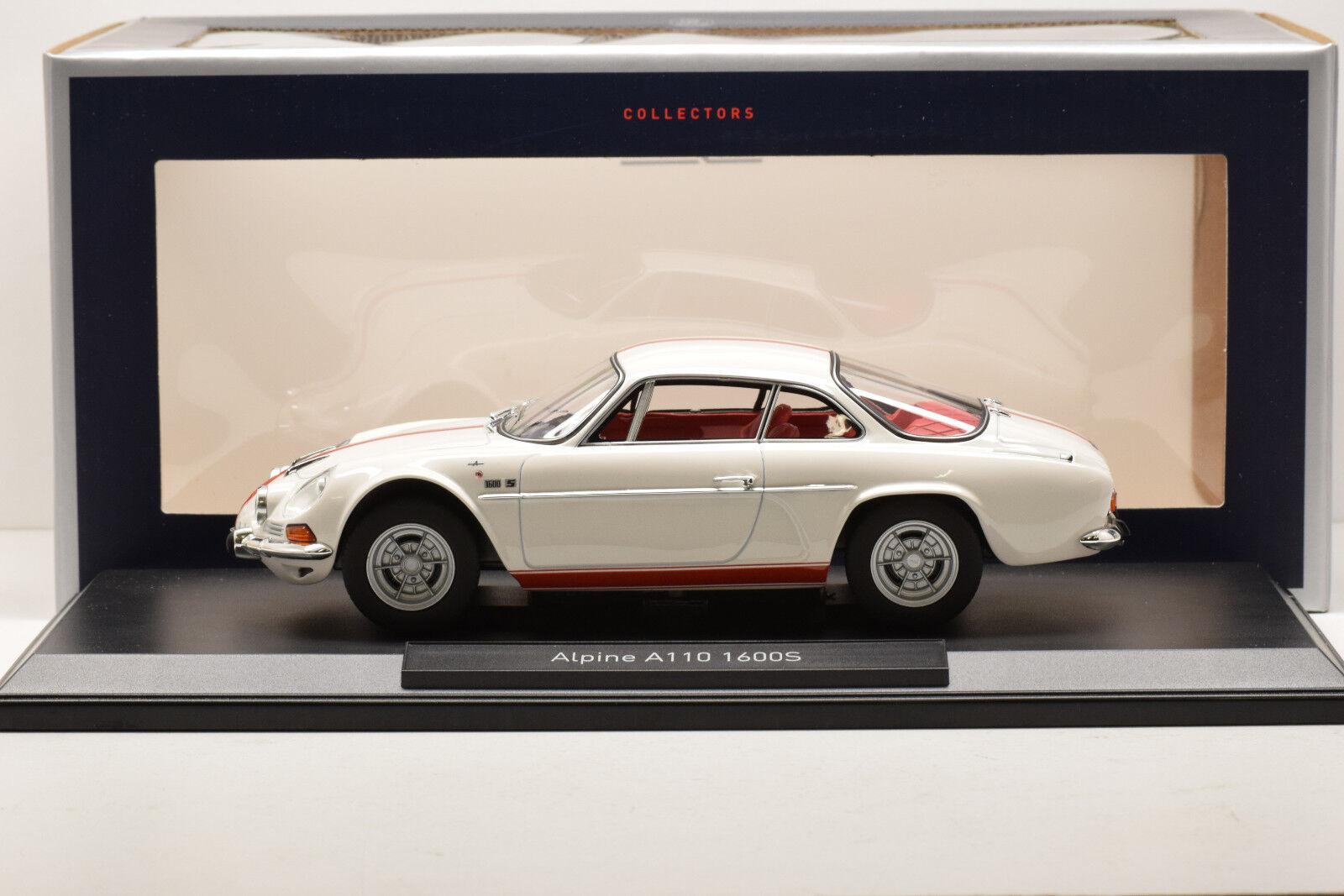 ALPINE RENAULT A110 1600S 1971 bianca & rosso STRIPPING NOREV 1 18 NEUVE EN BOITE