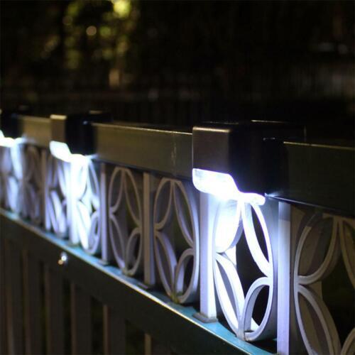 4x Solar LED Bright Deck Lights Outdoor Garden Patio Railing Decks Path Lighting