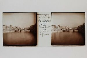 Florence Firenze Italia Placca N8 Lente Stereo Vintage 1938