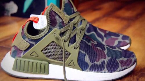 Adidas NMD xr1 Duck Camo Olive Cargo size 8.5 Green Version Only afficher le titre d'origine