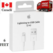 6Feet/2M Original Apple Lightning USB Charger Cable For Iphone 7 6 6S 5S IPad
