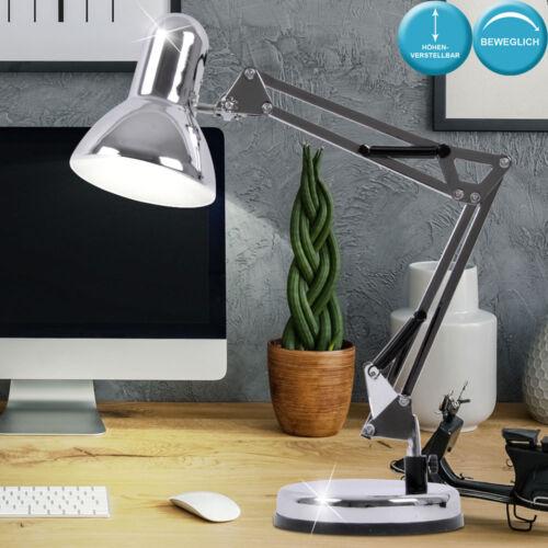 Büro Tisch Leuchte Metall Gelenkarm Lampe Arbeitszimmer Beleuchtung drehbar