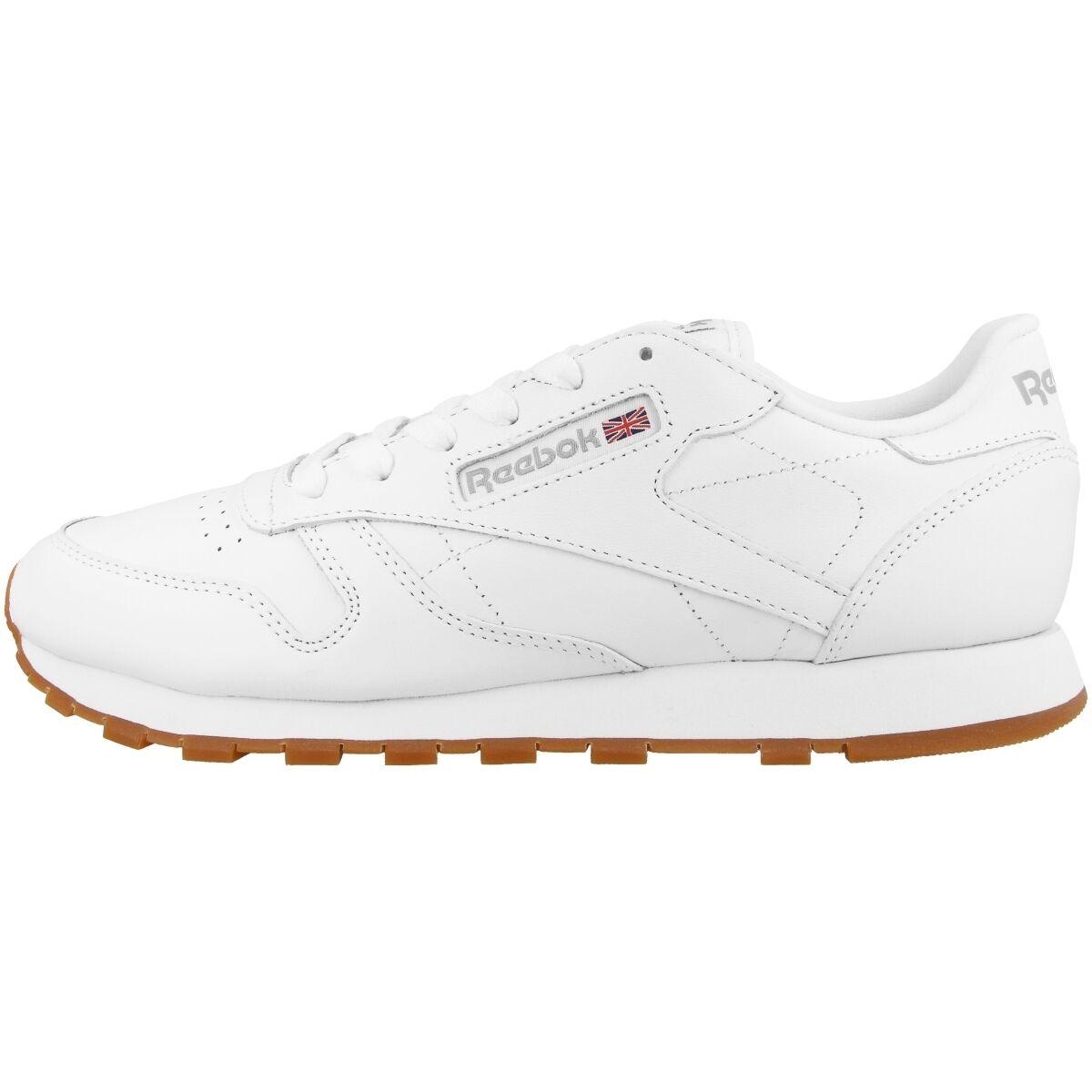 Zapatos promocionales para hombres y mujeres Reebok Cuero Clásico women Zapatilla deportiva de mujer Blanco Goma 49803