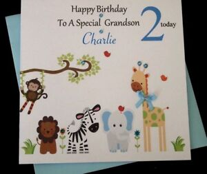 Image Is Loading Handmade Personalised Boys 1st 2nd Birthday Card Son