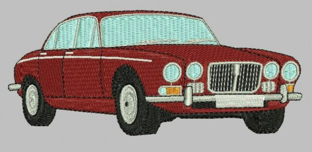 Jaguar XJ6 Series 2 Embroidered & Personalised Polo Shirt