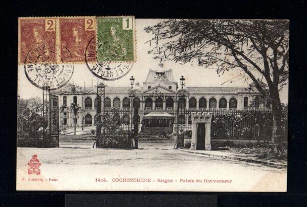 10780-indochina-postcard Saigon To Hanoi.1907.carte Postale.indochine.vietnam. Et Aide à La Digestion