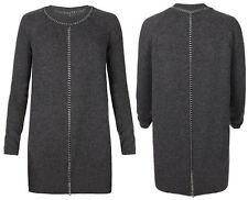 All Saints Chain Jumper Knit Tunic Dress in Charcoal Uk 6