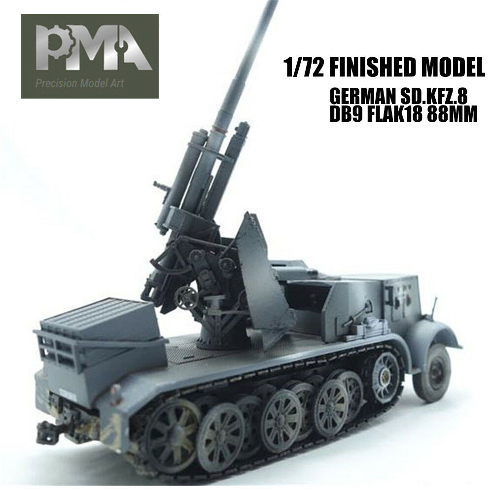 GERMAN SD.KFZ.8 DB9 FLAK18 88MM 1 72 FINISHED TANK MODEL