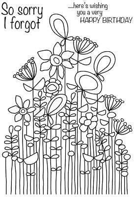Tall Deco Vase FRS348 Woodware Clear Singles Rubber Stamp