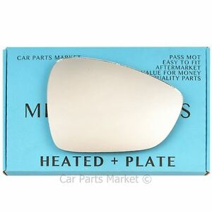 plate Left side Flat Wing door mirror glass for Peugeot 3008 2009-2016 heated