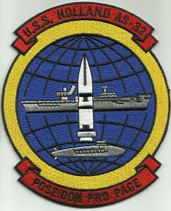 Uss holland as 32 submarine tender military patch poseidon pro pace