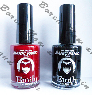 Gothic Nail Polish - I'm Seein' Red/Blood Red or Sabbath Black/Raven Manic Panic
