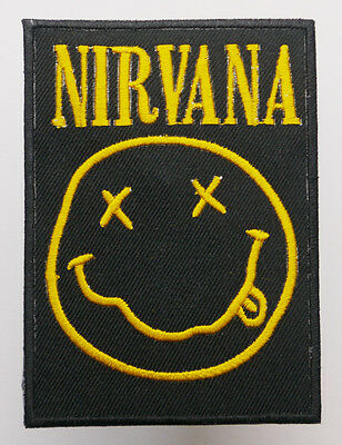 NIRVANA Classic Smiley - Big Iron-On Music Band Patch - MIX 'N' MATCH - #3E04