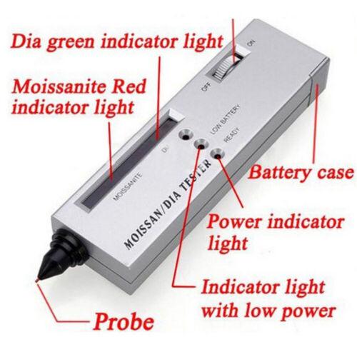 Hohe Genauigkeit Diamant Tester Led Diamant Indikator Test Pen Moissanite L2Z2