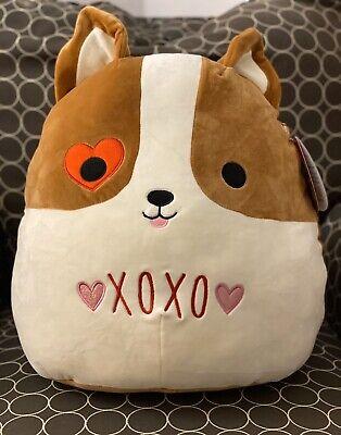 "Kellytoy Squishmallows 2020 Valentine 5/"" Reginald Love Corgi Dog Plush Doll"