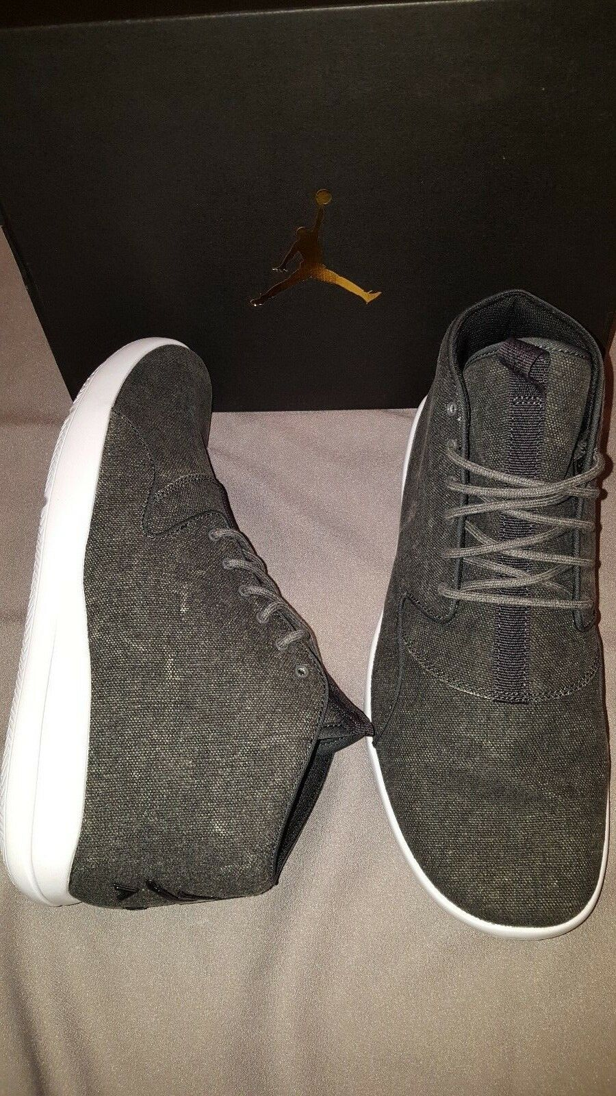 c76b53886d2506 NIKE JORDAN ECLIPSE CHUKKA GREY GREY GREY WHITE SHOES MENS SIZE US 9 NEW IN  BOX