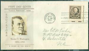 US-873 BOOKER T WASHINGTON cancel.TUSKGEE INSTITUTE APR.7-1940  ADDR.10c