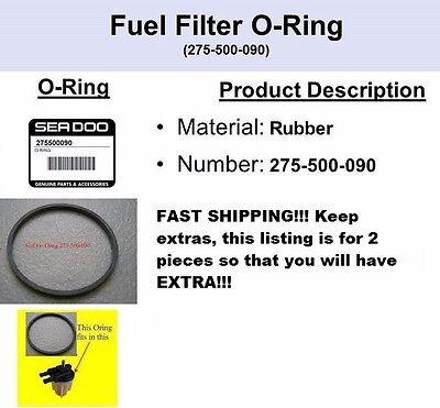 2 PACK!!! Fuel Filter Water Separator Bowl O-Ring Seal Seadoo 275500090 2 PACK!!