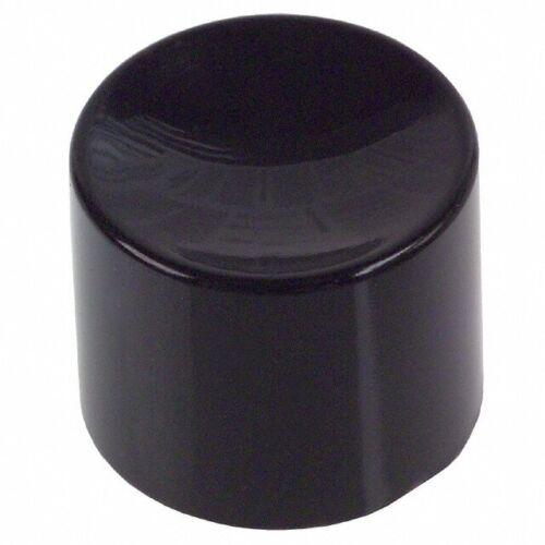 CAP PUSHBUTTON ROUND BLACK