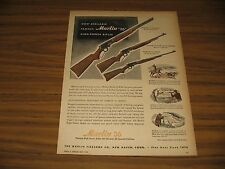1947 Print Ad Marlin 36 High Power Rifles Lever Action New Haven,CT