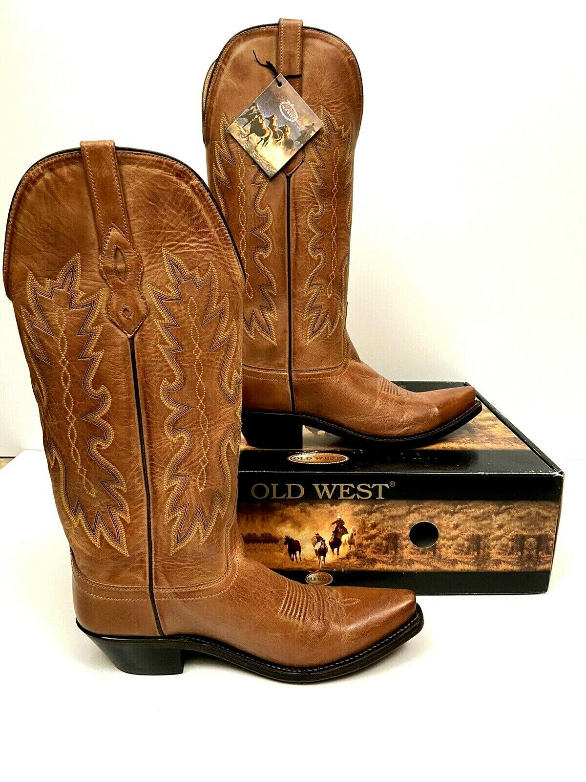 Old West Cowboy Boots Womens Distressed