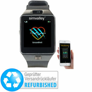 Handy-Uhr /& Smartwatch mit IPS-Display,Versandrücklüfer Akku-Smartwatch
