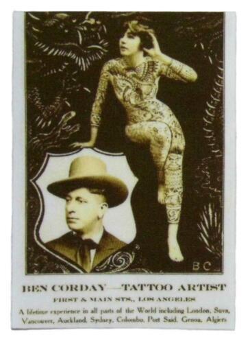 Tattoo Lady Vintage Circus Oddity Iron on Patch Flash Photo Applique Cotton DIY