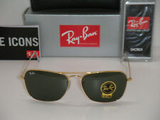 9098c258a86 NEW Ray Ban Sunglases RB 3136 Caravan RB3136 001 58mm Gold frame green Lens