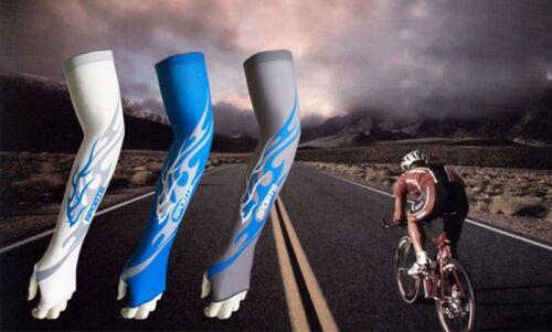 1 Pair Ice Silk Sports Elbow Arm Cycling Basketball Long Arm Sleeve Soft A424