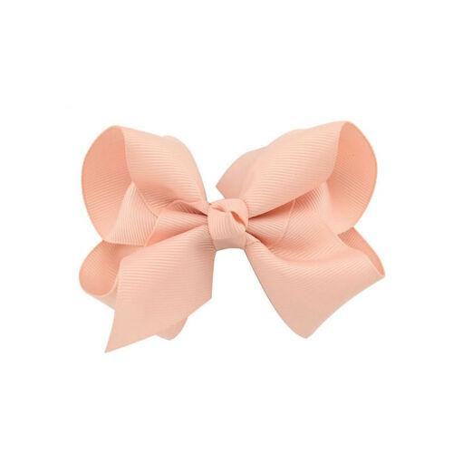 4/'/' Girls Bow Baby Hair Bow Clip Slide Grip Hairpins Grosgrain Ribbon Headwear
