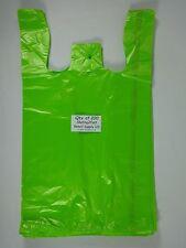 200 Qty Lime Plastic T Shirt Retail Shopping Bags With Handles 115 X 6 X 21