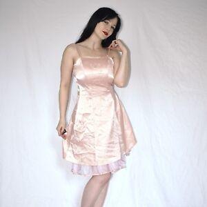 lowest price 00293 da7a4 Details zu butterweiches SATIN COCKTAILKLEID mit Schnürung* XS rosa  Etuikleid* Abendkleid